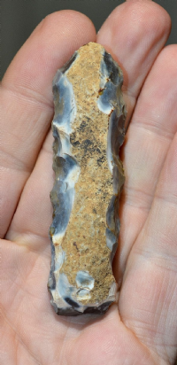 An attractive and very nicely worked Neolithic flint fabricator from Dorset , SOLD